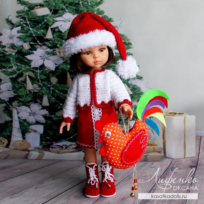 Новогодняя Кэрол с буклетом от Оксаны Лифенко