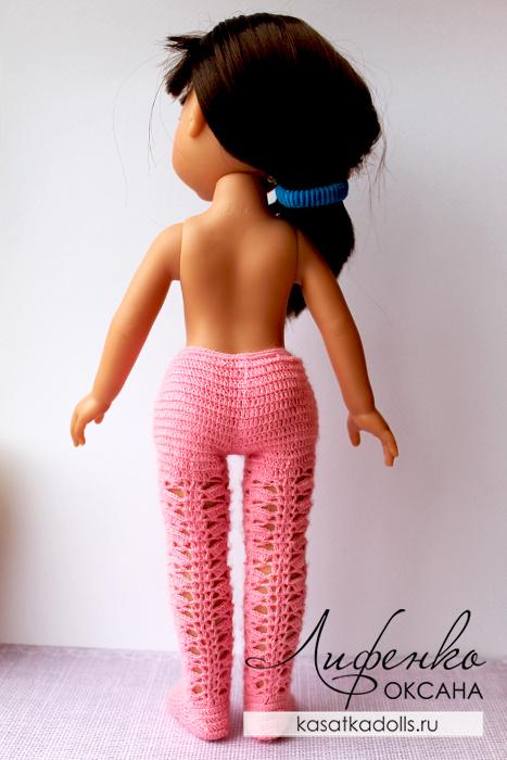 ажурные колготки для куклы крючком