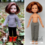 Вяжем брюки для кукол Паола Рейна