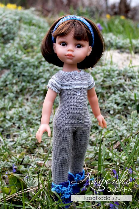 Одежда для кукол Паола Рейна: комбинезон крючком