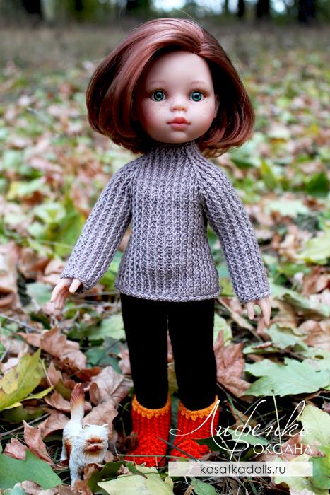 брюки и свитер для кукол