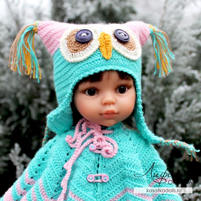 Шапочка сова для кукол Паола Рейна