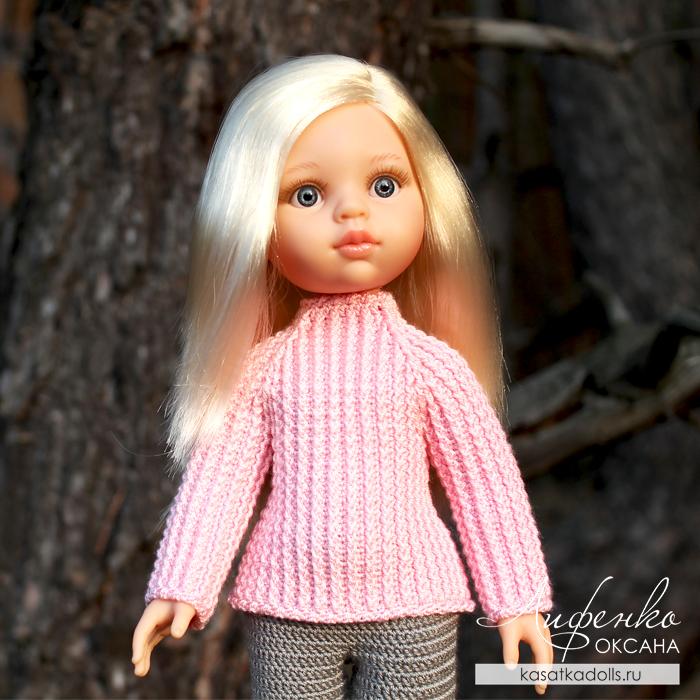 Вяжем крючком свитер для кукол