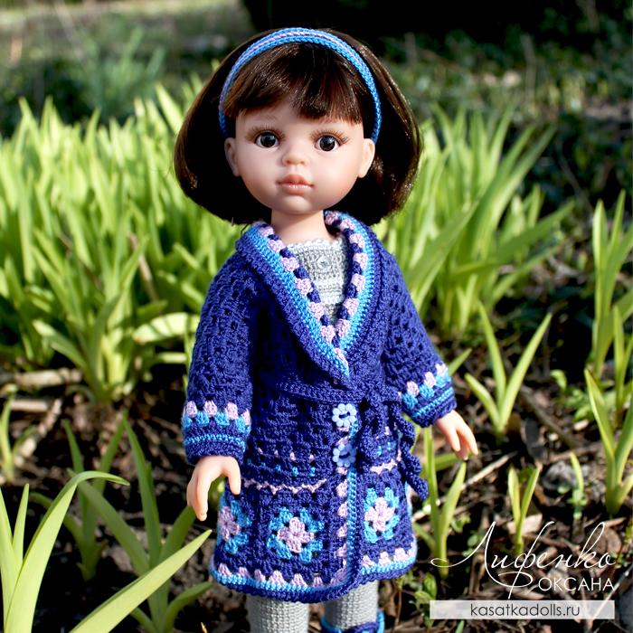 Вязаная одежда для кукол описание пальто