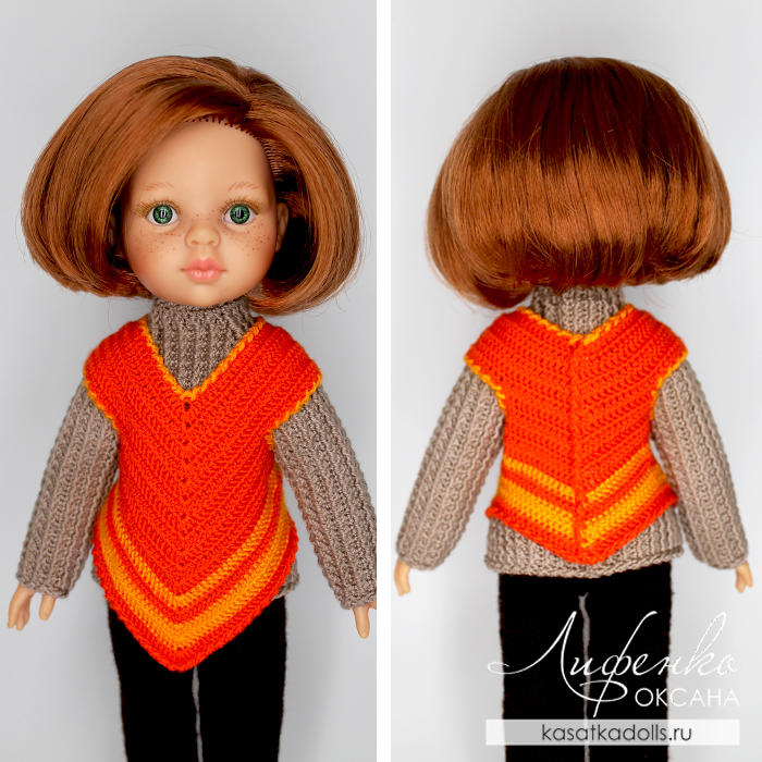 Вязаная одежда для кукол крючком