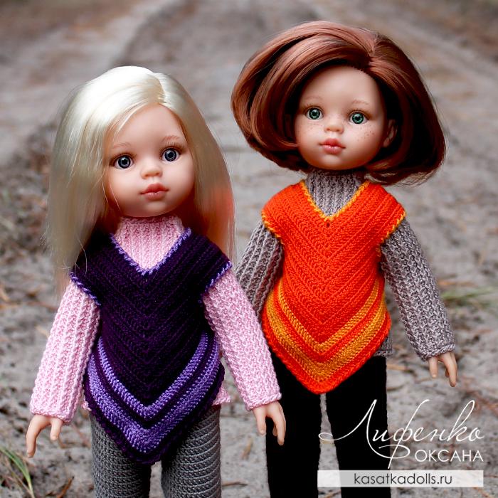 Вязаная одежда для кукол крючком: жилет