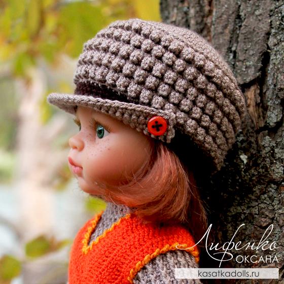 Описание и видео мастер-класс: Кепка для кукол