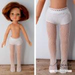 Шьем из носка колготки для куклы