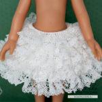 Вязание с кружевом. Вяжем кружевное платье для кукол