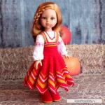 Вяжем сарафан в славянском стиле для кукол