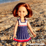 Морской сарафан для куклы