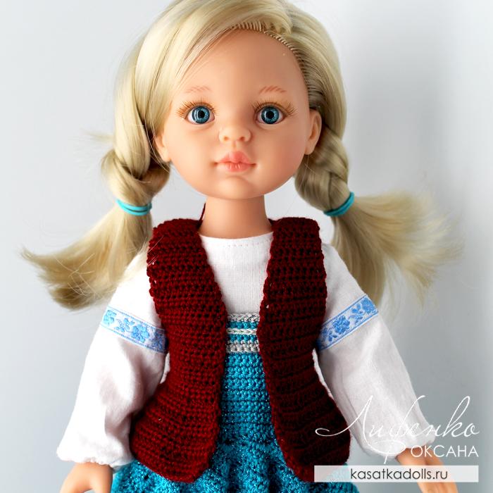 вяжем жилетку для кукол