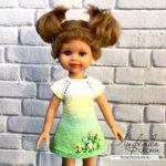 Вяжем спицами простое платье для куклы (описание и видео урок)