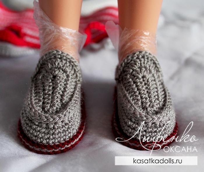 выполнение влажно тепловой обработки кукольной обуви