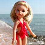 Купальник для куклы Паола Рейна крючком