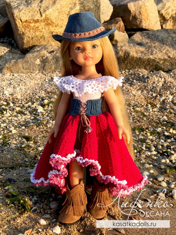 наряд ковбойки для кукол Паола Рейна