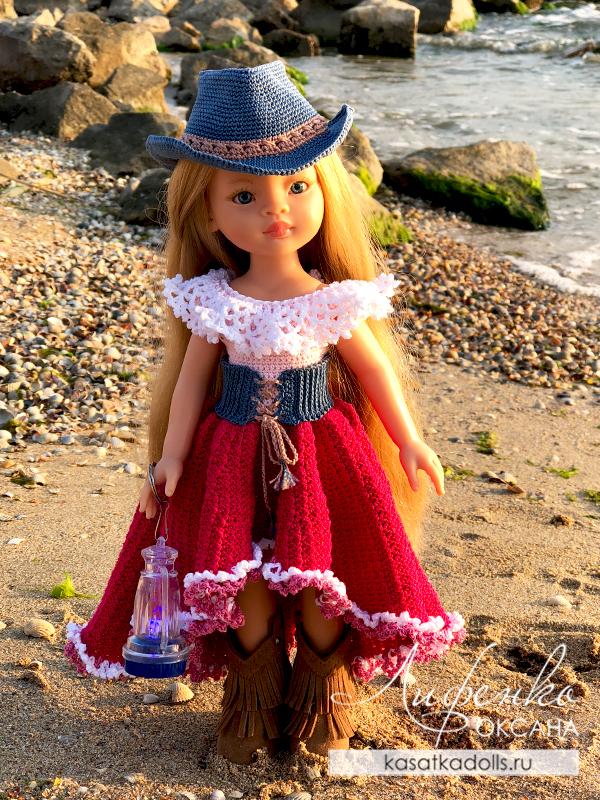 нарядное платье для кукол Паола Рейна
