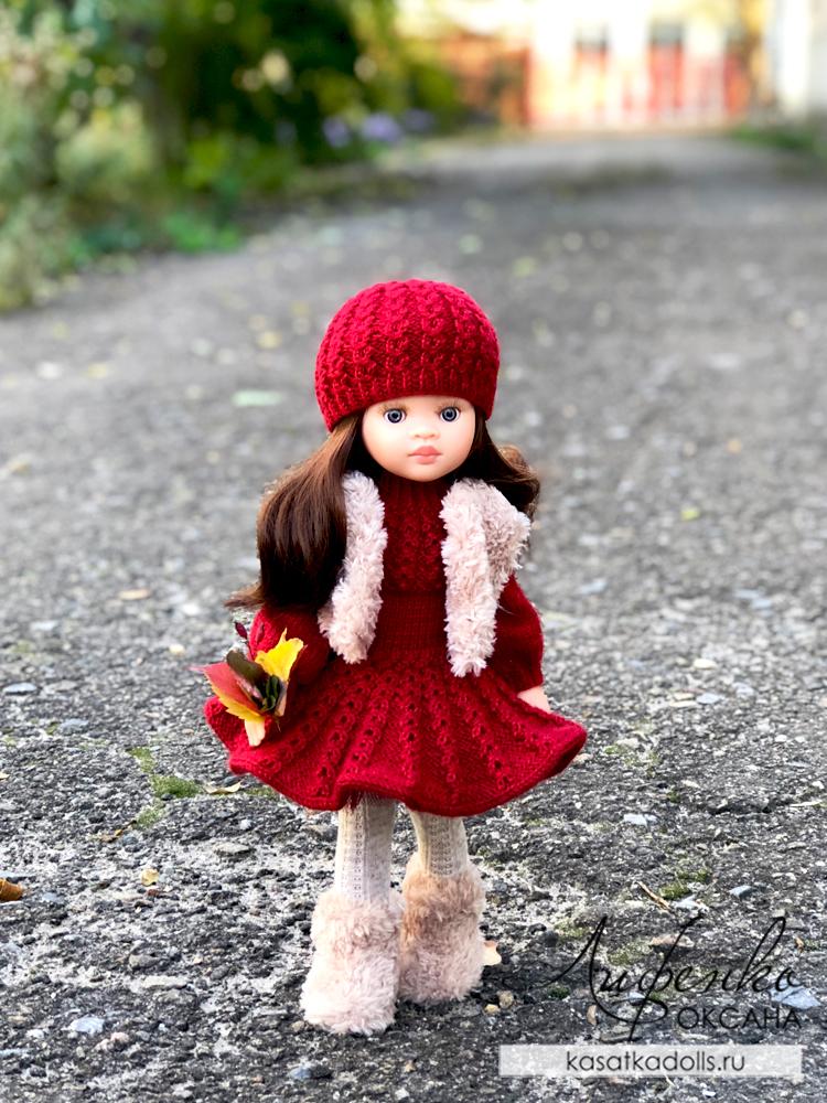 теплый наряд для куклы
