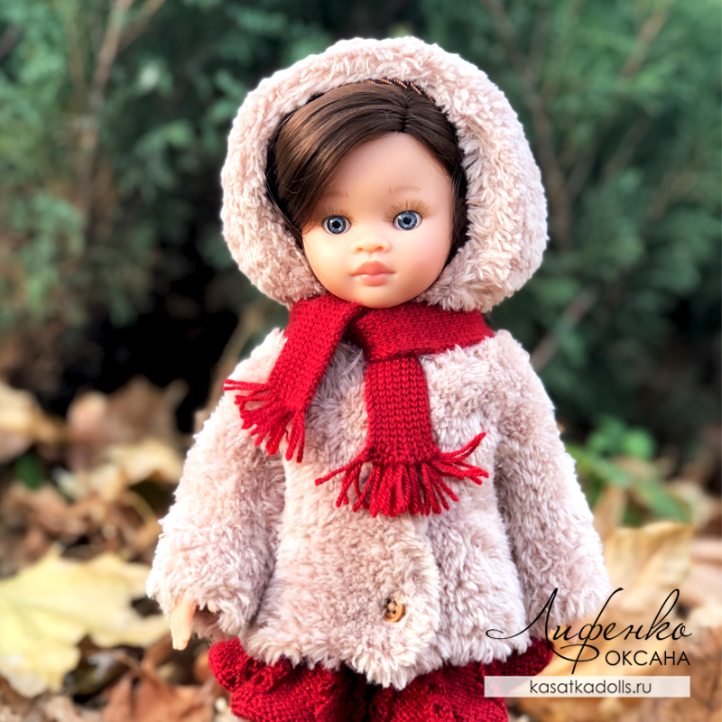 шубка с капюшоном для кукол Паола Рейна