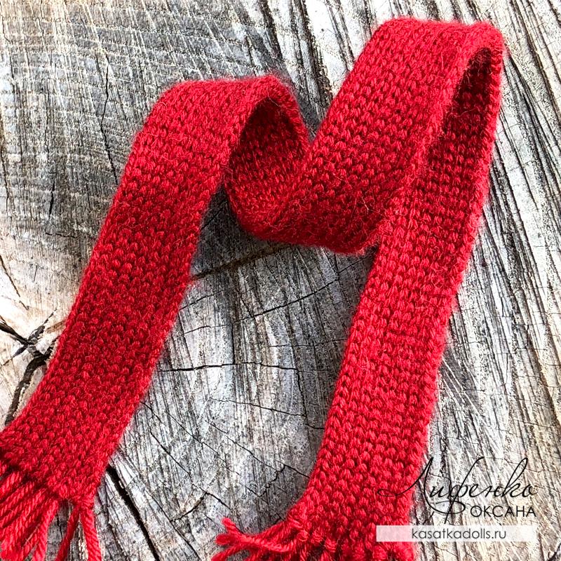 шарф резинкой крючком из полустолбиков без накида
