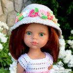 Описание простой шляпки крючком для кукол Паола Рейна
