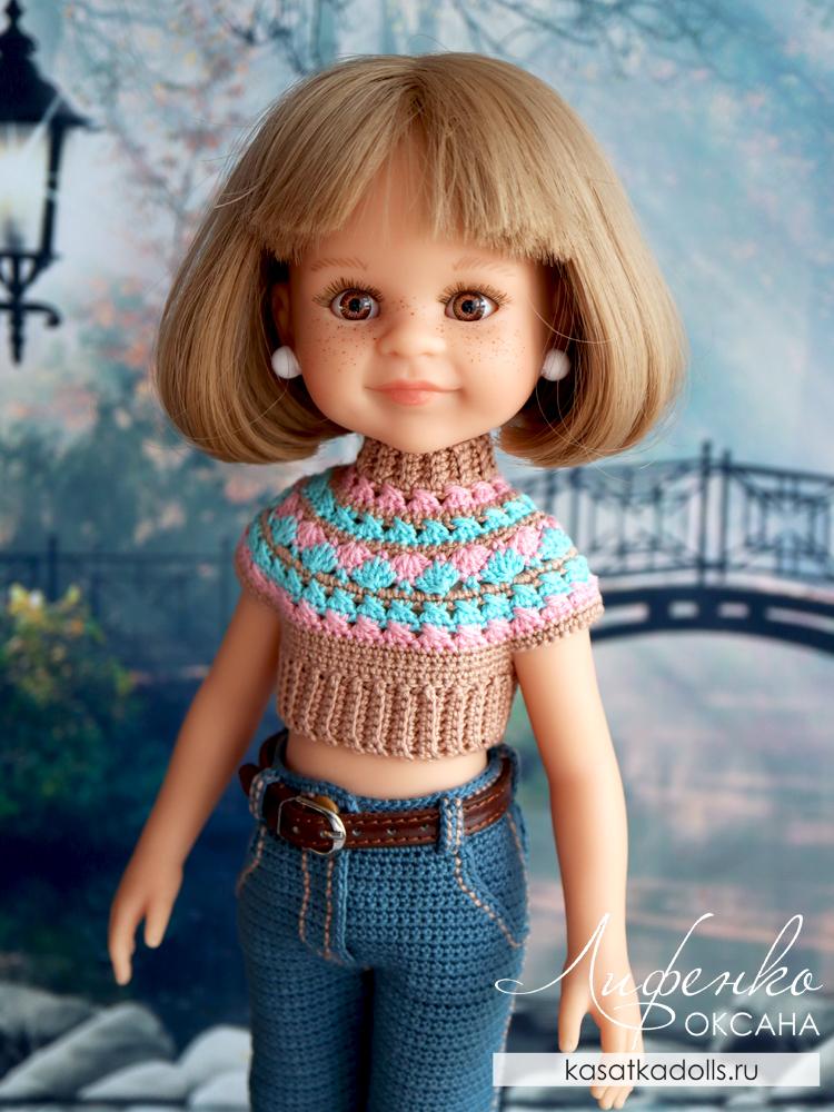 топик для куклы крючком