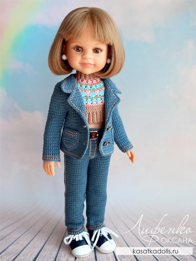 джинсовый костюм для куклы Паола Рейна
