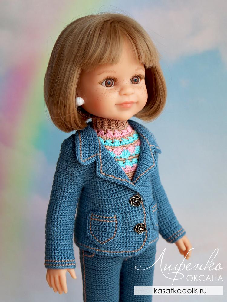 джинсовый пиджак для кукол