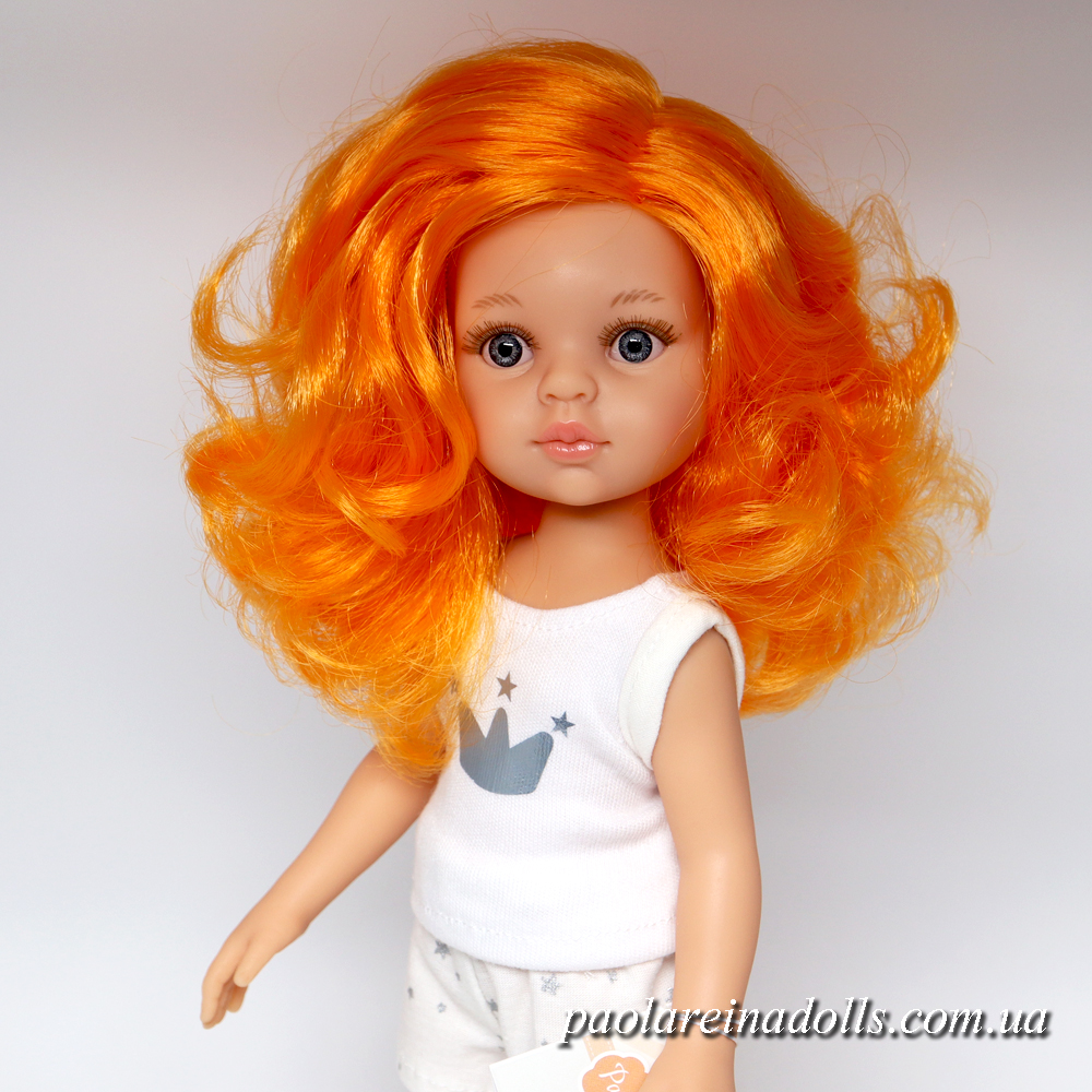 Кукла Сюзана Паола Рейна в пижаме с оранжевыми волосами 13201