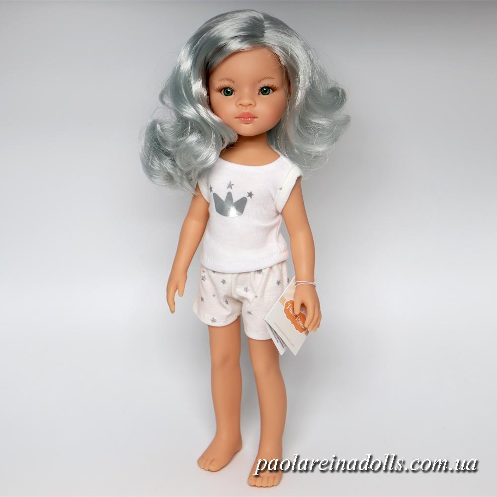 Кукла Лиу Паола Рейна в пижаме с серыми волосами 13204