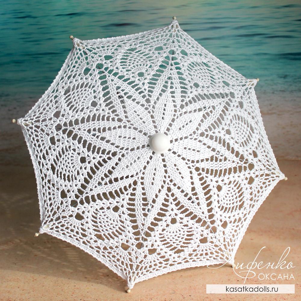 зонтик с ананасами крючком