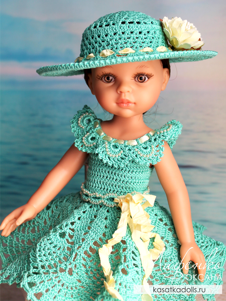шляпка крючком для кукол