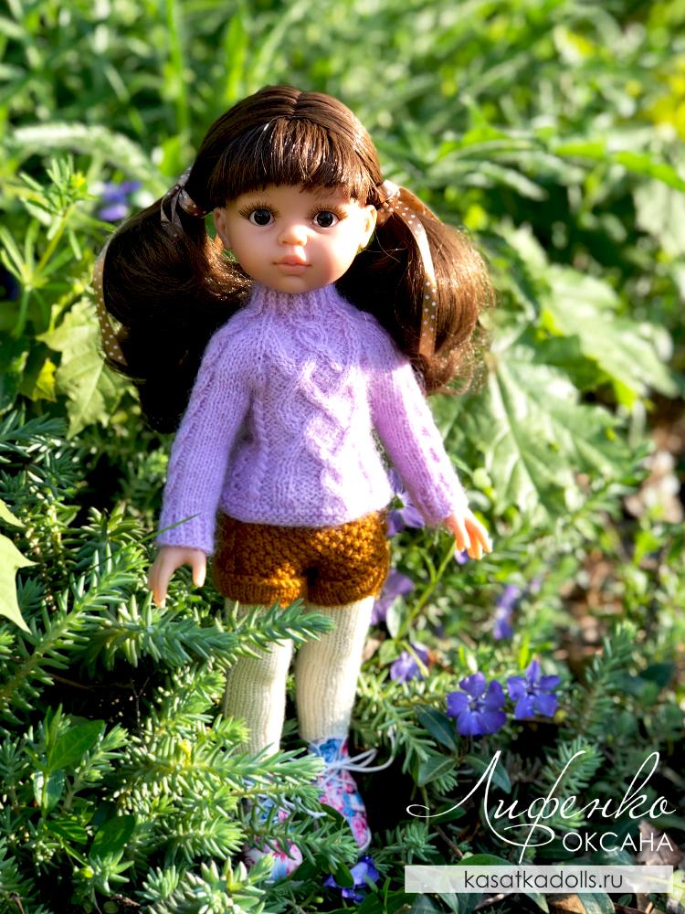 шорты спицами для кукол