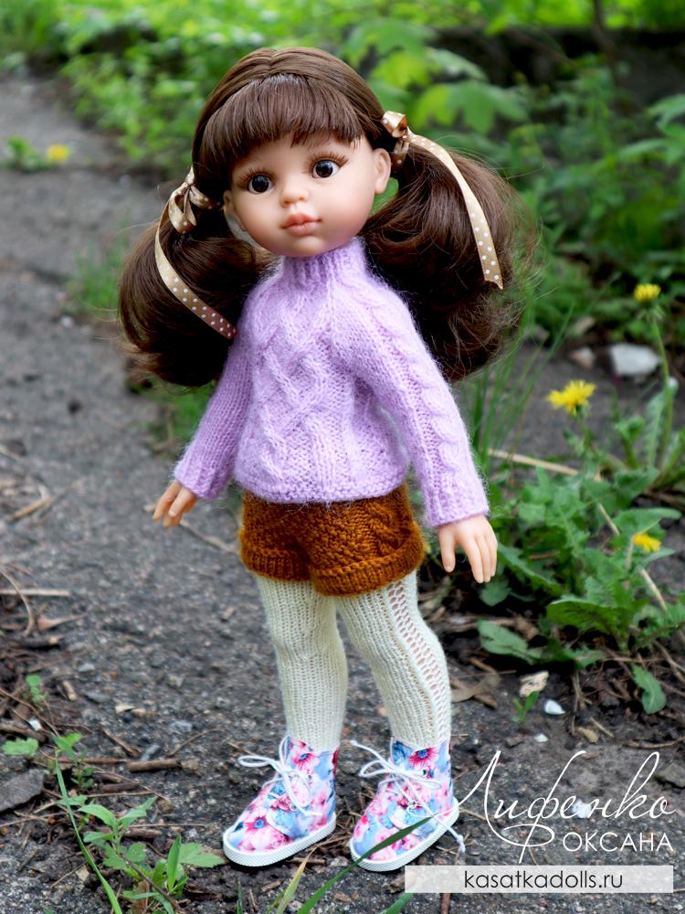колготки спицами для кукол