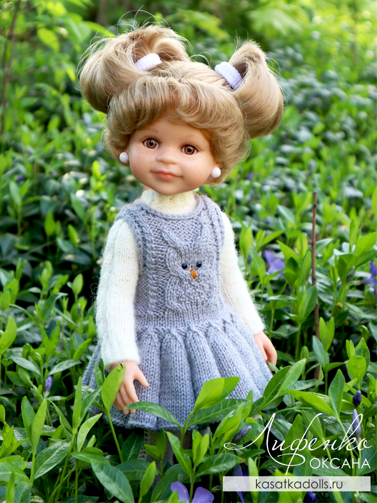 одежда спицами для кукол