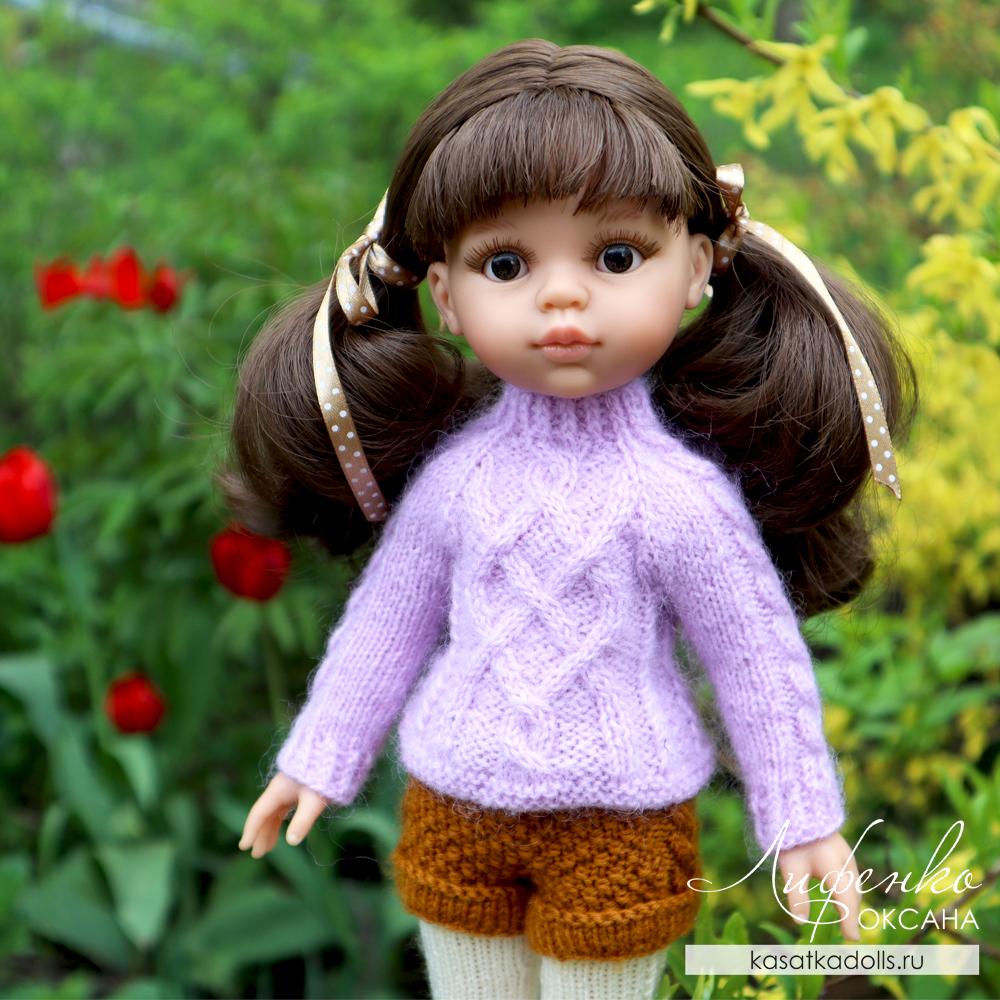 описание вязания спицами для кукол Паола Рейна