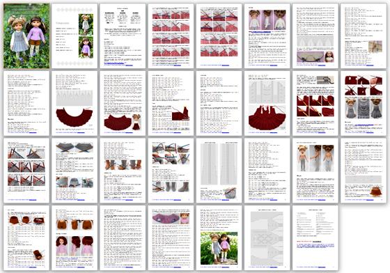 описание вязание спицами для кукол Паола Рейна