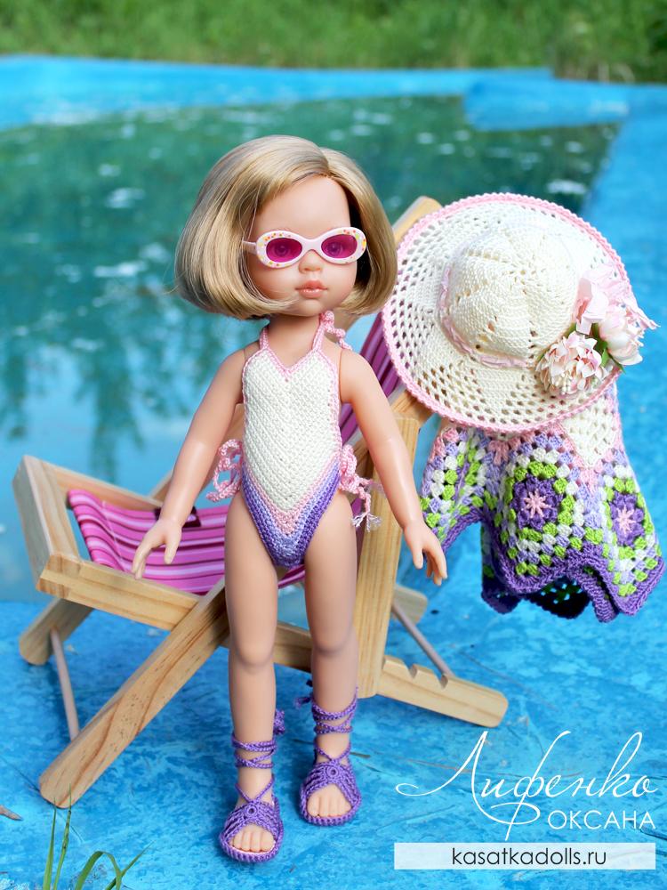 купальник крючком для кукол Паола Рейна