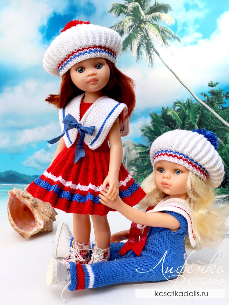 наряд в морском стиле для кукол Паола Рейна