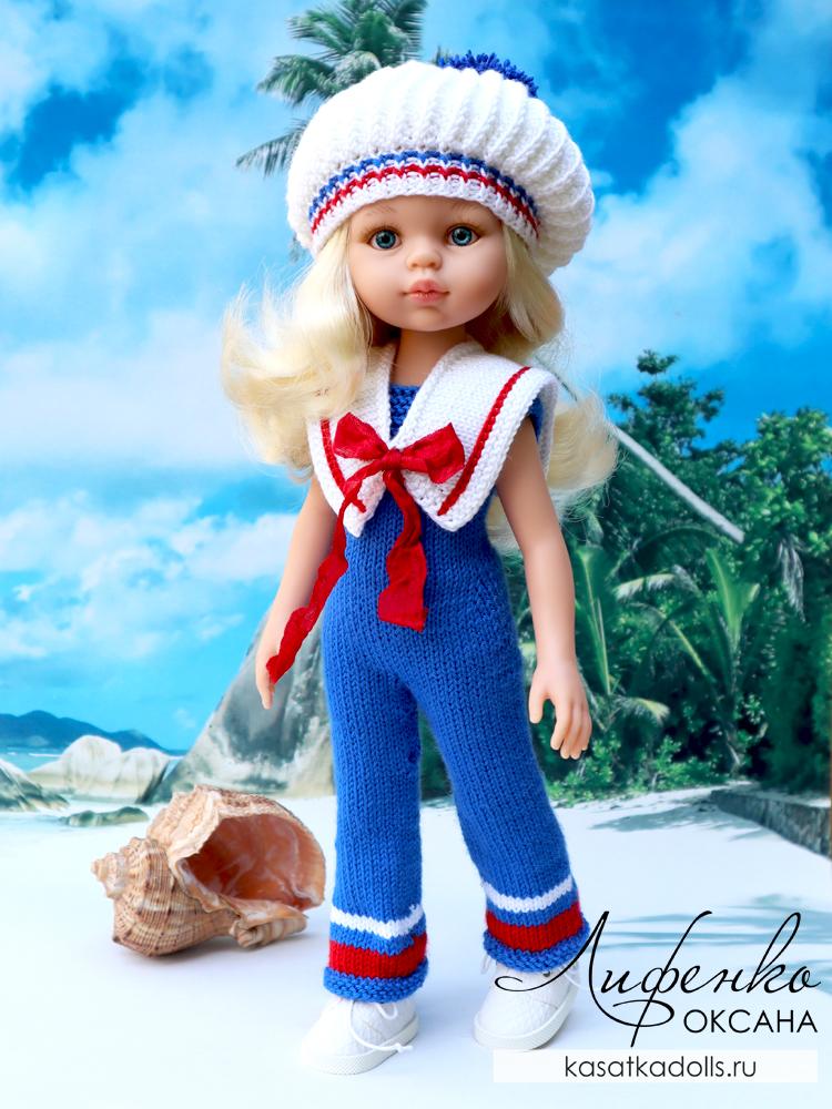 Комбинезон спицами для кукол