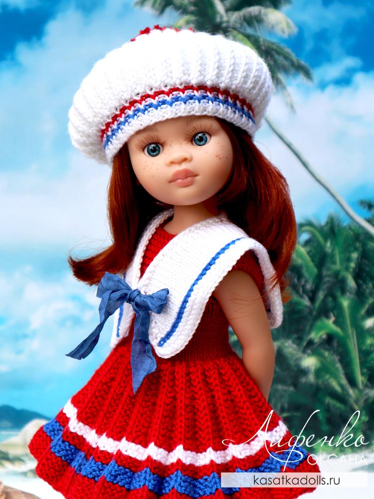 Платье с юбкой плиссе спицами