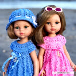 Ажурная туника для кукол Паола Рейна