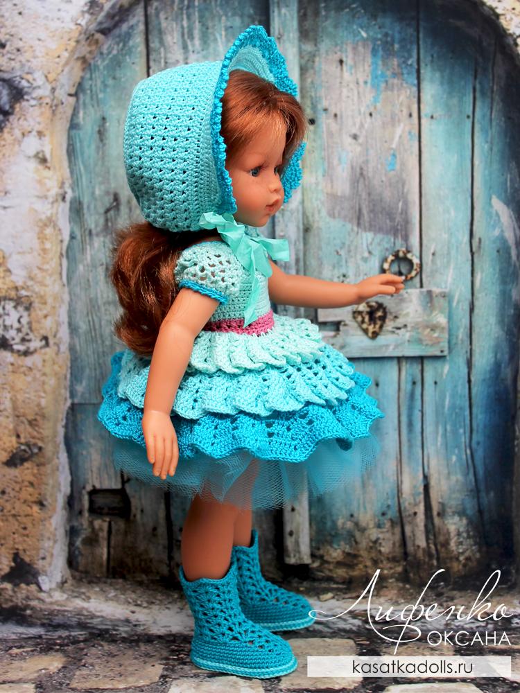 ажурные сапожки для куклы крючком