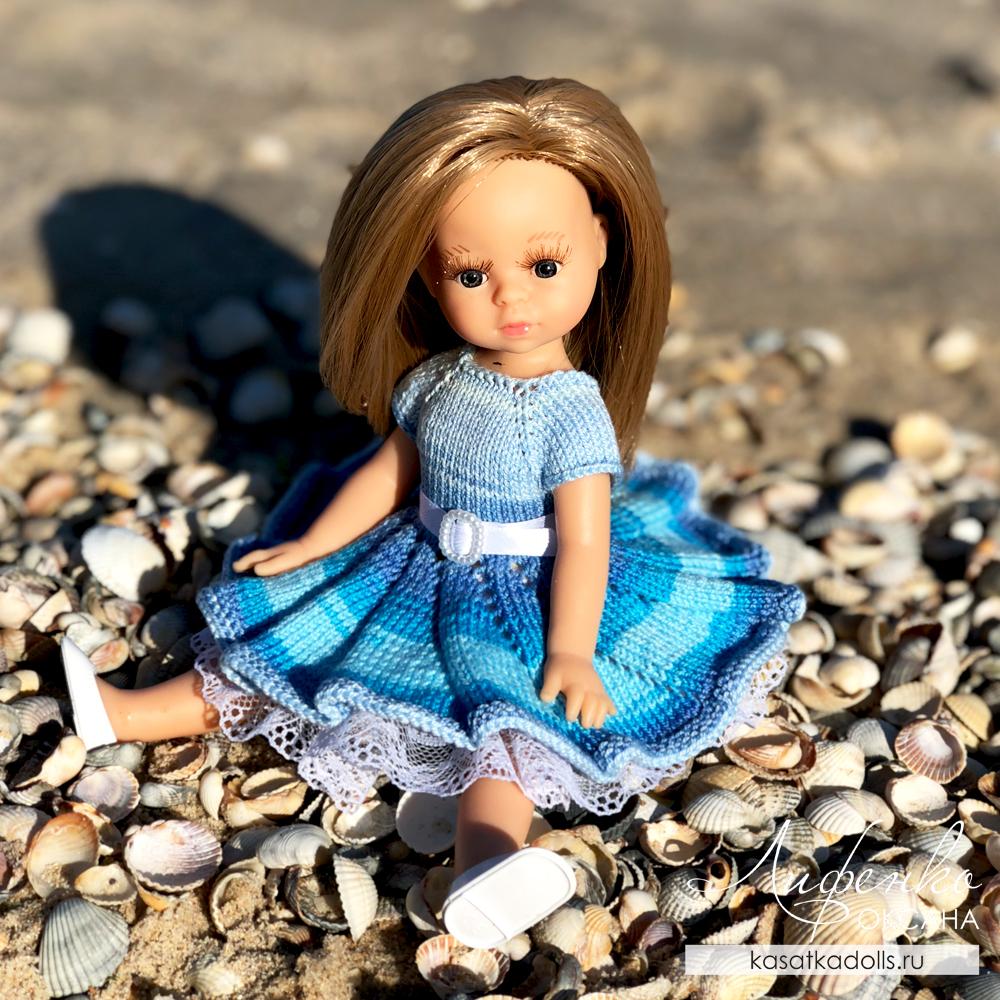 Платье спицами для мини паола рейна 21 см и крузелинг