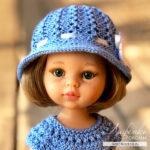 Летняя шляпка спицами для кукол Паола Рейна