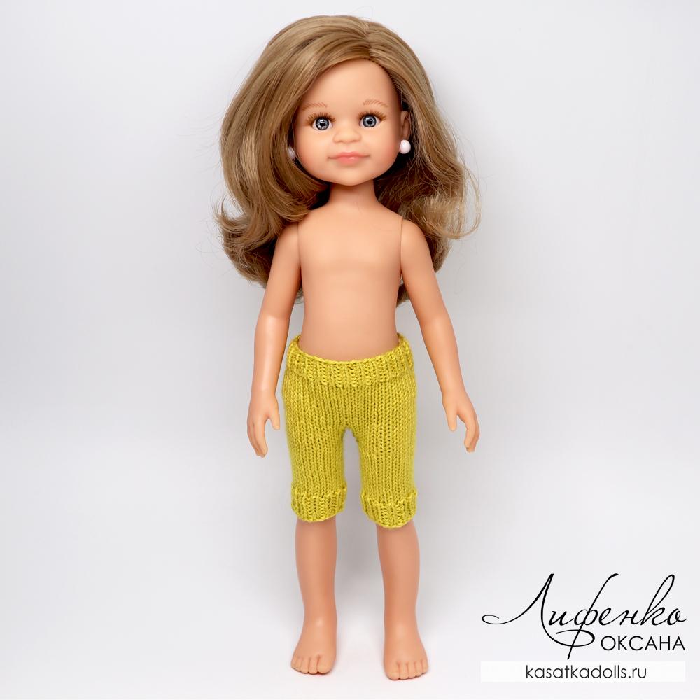 вязаные штанишки спицами для кукол Паола Рейна