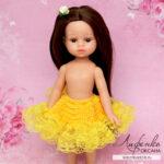 Нижняя кружевная юбочка для кукольного платья