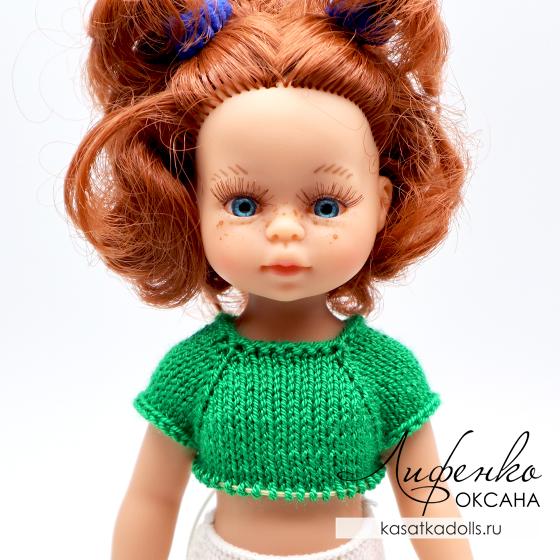 кокетка спицами для кукол мини подружки паола рейна 21 см
