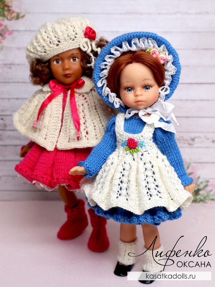вязание спицами для кукол мини подружки 21 см