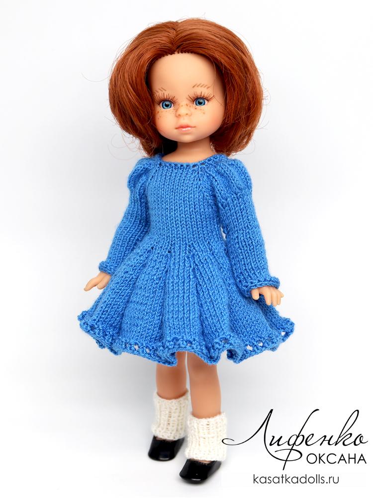 платье спицами для кукол мини амигас паола рейна 21 см